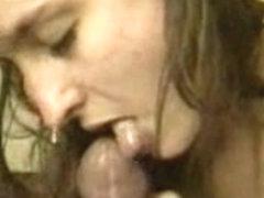 Sensual blowjob and facial