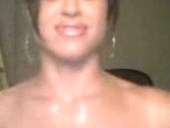 Hot brunette dancing naked
