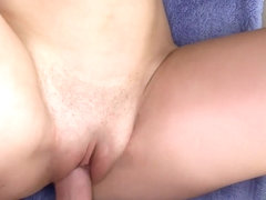Cali girl ends up with a lot of cum in her...