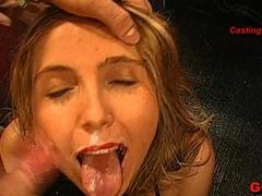 Exotic pornstar in Horny Bukkake, Lesbian adult clip