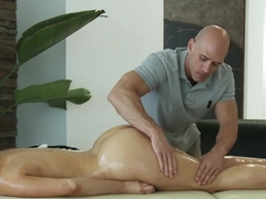 Horny Jayden gets massage and a lot more from shy masseur