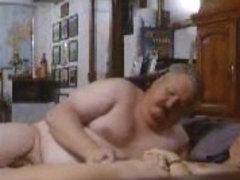 Hidden cam caught dad masturbating my mom