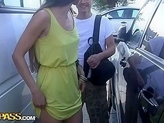 Very sexy public fuck with a lengthy-haired gal
