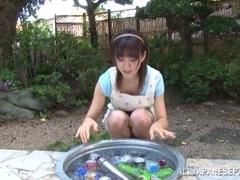 Ai Komori naughty housewife gets a hard fucking