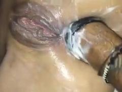 Hard amateur anal fisting