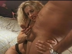 Blonde Brings Sperm to Pussy