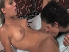 Legal Age Teenager lesbo kiss take up with the tongue and fist