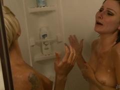 3-Girl Shower Time BurningAngel Video