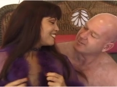 Slutty asian MILF Mimi fucks an ugly old bald guy