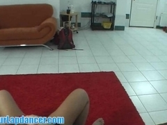 Hot lapdance by perfectly shaped woman