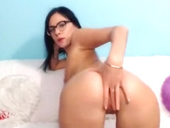 Brunette with glasses TeenBabeXO, fuck pussy fingers