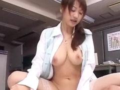 Horny Japanese chick Karin in Incredible Office, Cunnilingus JAV video