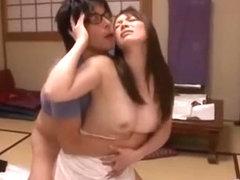 Horny Japanese girl Saki Aoyama, Yuna Aino in Amazing Cunnilingus, Doggy Style JAV clip