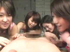 Horny Japanese whore in Exotic POV, Group Sex JAV movie