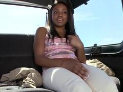 Cute Malina Milan gets naked in bang bus