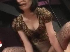 Crazy Japanese whore Maki Amemiya in Incredible Lingerie, Cunnilingus JAV clip