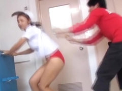 Nice bright red panty on the exciting sharking scenes