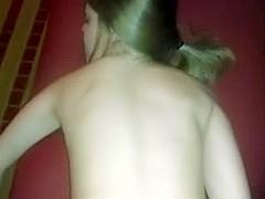 Girlfriend lets him creampie her on film