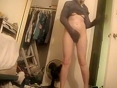 Hidden cam video of a hot naked blonde
