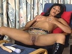 Dominant Busty Black Lady and her Gimp