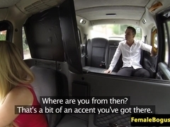 Lady taxi driver spunked on face