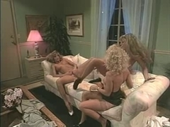 Retro lesbian porn tape with hot and sexy naked blondes