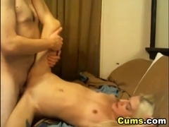 Blonde Babe Swallows after a Hard Fuck