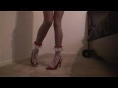 Red Skirt Leg