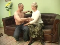 sexy grandma Lena with her Lover