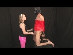Femdom tugjob with BIGGEST dick
