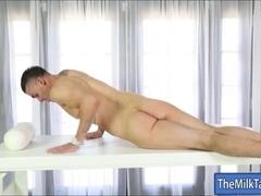 Busty masseuse Romi Rain cum facialed after sucking cock