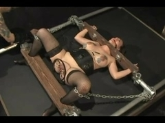 Cute girl in BDSM training