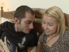 Cute teen blonde gets her assholes stretched