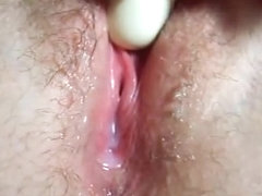 Hairy pussy needs a toy