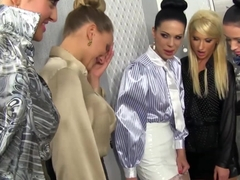 Lesbian european babes pissdrenched from gloryhole