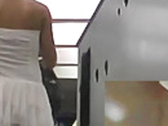 Gorgeous in shiny white petticoat