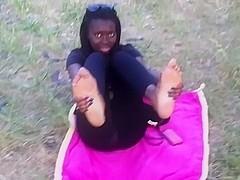Ebony girl feet