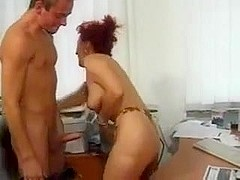 Mature  Executive  harasses young trainee
