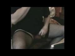 Chubby Crossdresser Toying Butt On Cam