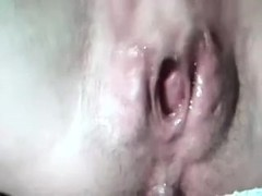 Close up look at naughty and weird cum-aperture of some white doxy