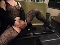 Masturbatin on Tram in Hungary