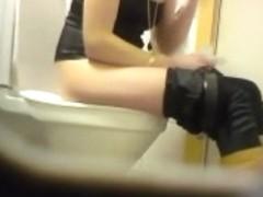 Blonde amateur teen toilet pussy ass hidden spy cam voyeur 7