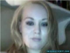 Cute German Dildos Her Pussy On Webcam