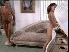 Handsome brunette hair copulates her piano teacher