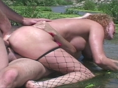 double penetration at the River