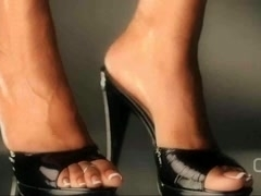 Darla TV - Dangling High Heel Mules Shoeplay Close Up
