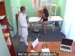 Doctor fucks huge tits patient in fake hospital