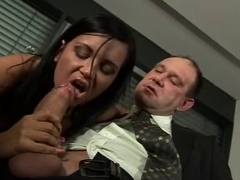 Hot office sex with a French secretary and her boss