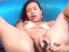 webcam - youthful colombian latin hottie angel dildoing cum-hole