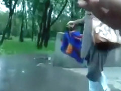 Crazy russian guy jerks off in public and annoys girls' compilation
